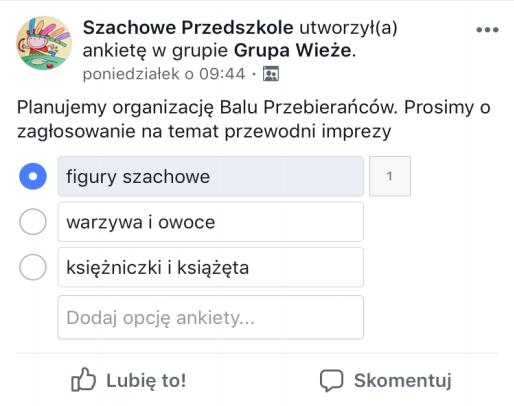 Tworzenie ankiety na Facebooku
